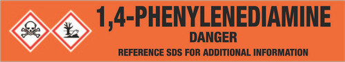 1,4-Phenylenediamine [CAS# 106-50-3] - GHS Pipe Marking Label