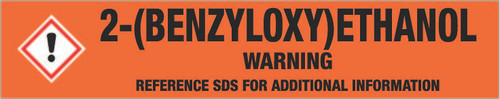 2-(Benzyloxy)ethanol [CAS# 622-08-2] - GHS Pipe Marking Label