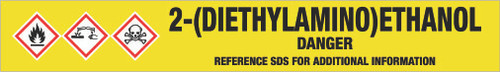 2-(Diethylamino)ethanol [CAS# 100-37-8] - GHS Pipe Marking Label