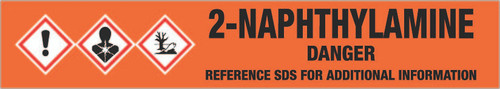 2-Naphthylamine [CAS# 91-59-8] - GHS Pipe Marking Label
