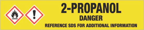 2-Propanol [CAS# 67-63-0] - GHS Pipe Marking Label