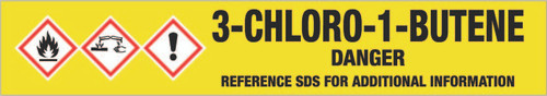 3-Chloro-1-butene [CAS# 563-52-0] - GHS Pipe Marking Label