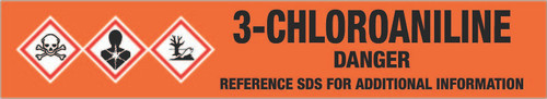 3-Chloroaniline [CAS# 108-42-9] - GHS Pipe Marking Label