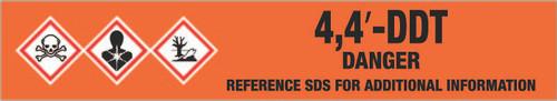 4,4′-DDT [CAS# 50-29-3] - GHS Pipe Marking Label