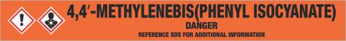 4,4′-Methylenebis(phenyl Isocyanate) [CAS# 101-68-8] - GHS Pipe Marking Label
