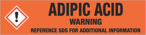 Adipic acid [CAS# 124-04-9] - GHS Pipe Marking Label