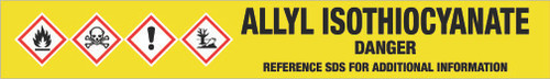 Allyl Isothiocyanate [CAS# 57-06-7] - GHS Pipe Marking Label