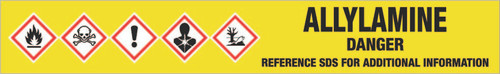 Allylamine [CAS# 107-11-9] - GHS Pipe Marking Label