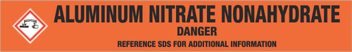 Aluminum Nitrate Nonahydrate [CAS# 7784-27-2] - GHS Pipe Marking Label