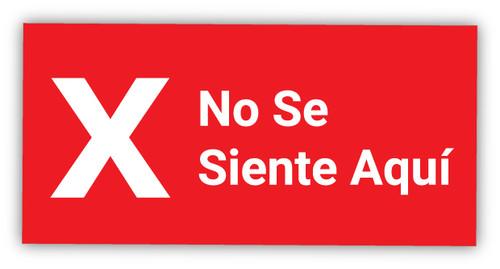Do Not Sit Here X Symbol Spanish - Label