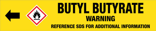 Butyl Butyrate [CAS# 109-21-7] - GHS Pipe Marking Label