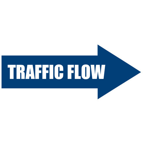 Traffic Flow Arrow Floor Sign
