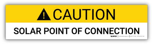 Caution Solar Point Of Connection - Arc Flash Label