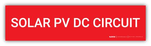 Solar PV DC Circuit - Arc Flash Label