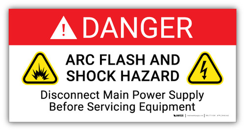 Danger Arc Flash And Shock Hazard Follow Requirements in NFPA 70E - Arc Flash Label