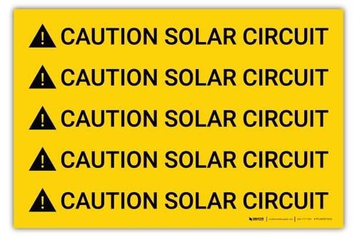 Caution Solar Circuit Multiple - Arc Flash Label