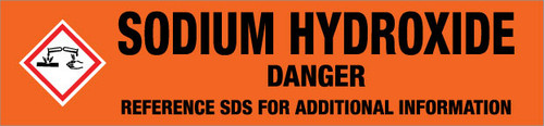 Sodium Hydroxide [CAS# 1310-73-2] - GHS Pipe Marking Label