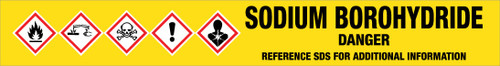 Sodium Borohydride [CAS# 16940-66-2] - GHS Pipe Marking Label