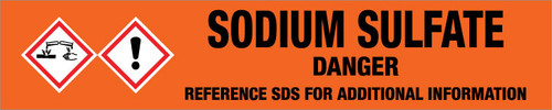 Sodium Sulfate [CAS# 7757-82-6] - GHS Pipe Marking Label