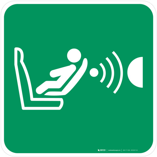 Child Seat Presence & Orientation Dectection System (CPOD) Safe Condition - ISO Floor Sign