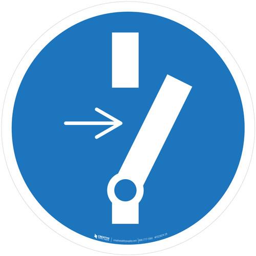 Disconnect Before Maintenance or Repair Mandatory - ISO Floor Sign