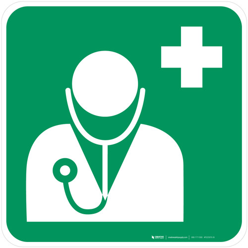 Doctor Safe Condition - ISO Floor Sign