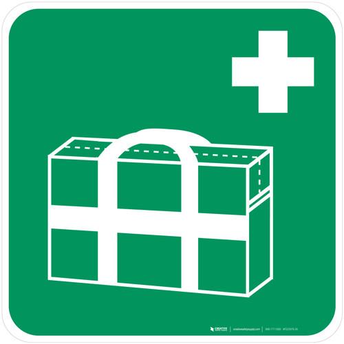 Medical Grab Bag Safe Condition - ISO Floor Sign