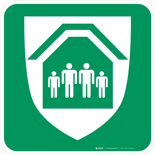 Protection Shelter Safe Condition - ISO Floor Sign