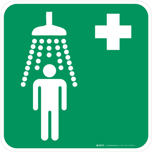 Safety Shower Safe Condition - ISO Floor Sign