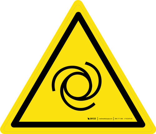 Automatic Start Up Warning - ISO Floor Sign