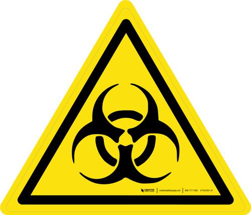 Biological Hazard Warning - ISO Floor Sign