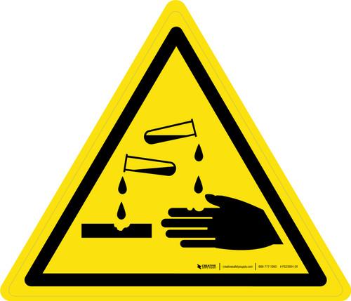 Corrosive Substance Warning - ISO Floor Sign