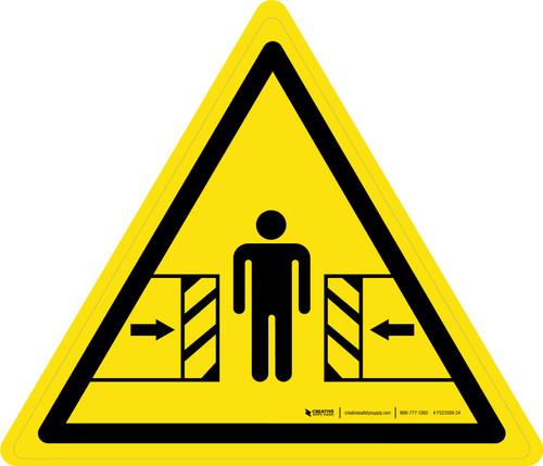 Crushing Warning - ISO Floor Sign