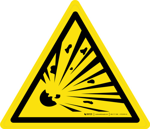 Explosive Material Warning - ISO Floor Sign