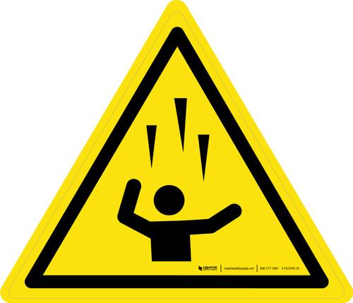 Falling Ice Warning - ISO Floor Sign
