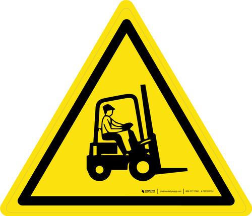Forklift Trucks Warning - ISO Floor Sign