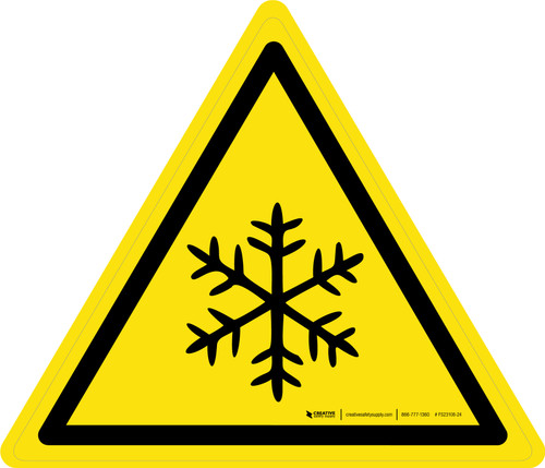 Low Temperature or Freezing Conditions Warning - ISO Floor Sign
