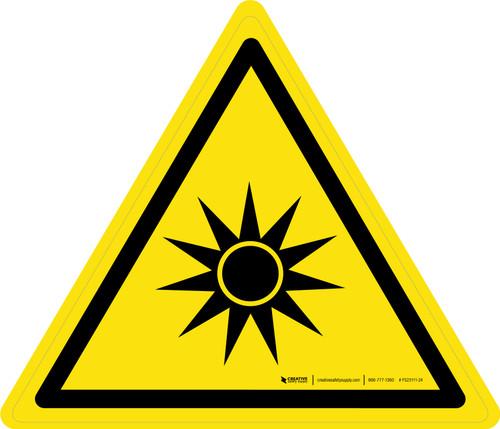 Optical Radiation Warning - ISO Floor Sign