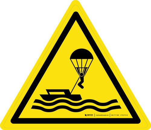 Parasailing Warning - ISO Floor Sign