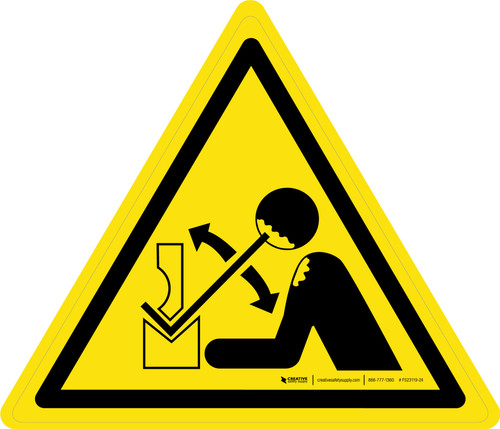 Rapid Movement of Workpiece in Press Brake Warning - ISO Floor Sign