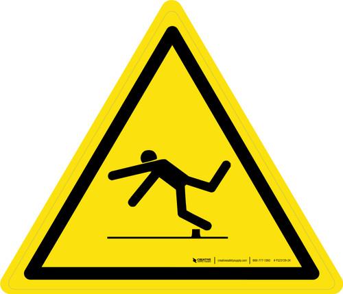 Trip Hazard Warning - ISO Floor Sign