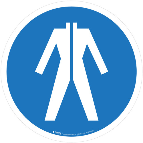 Wear Protective Clothing Mandatory - ISO Floor Sign