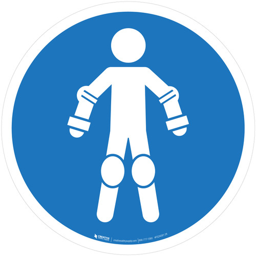 Wear Protective Roll Sport Equipment Mandatory - ISO Floor Sign