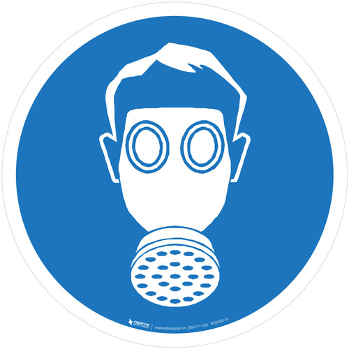 Wear Respiratory Protection Mandatory - ISO Floor Sign