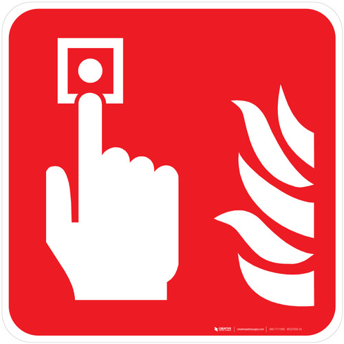 Fire Alarm Call Point Fire Safety - ISO Floor Sign