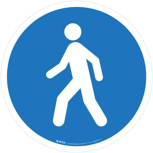 Use This Walkway Mandatory - ISO Floor Sign