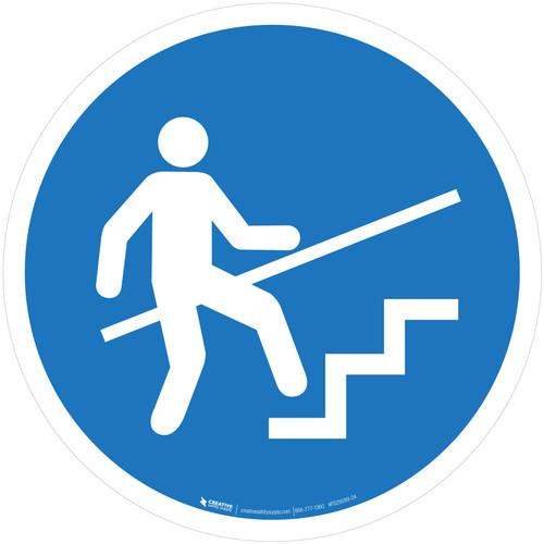 Use Handrail Mandatory - ISO Floor Sign