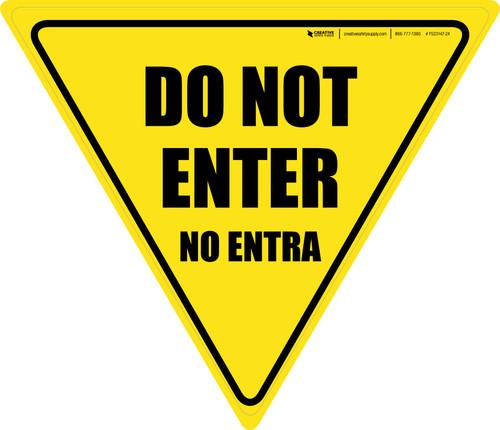 Do Not Enter Bilingual Yield - Floor Sign