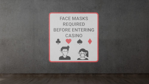 Face Masks Required Before Entering Casino - SignCast S200 Virtual Sign