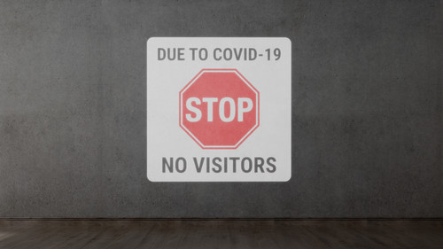 Due To Covid No Visitors - SignCast S200 Virtual Sign